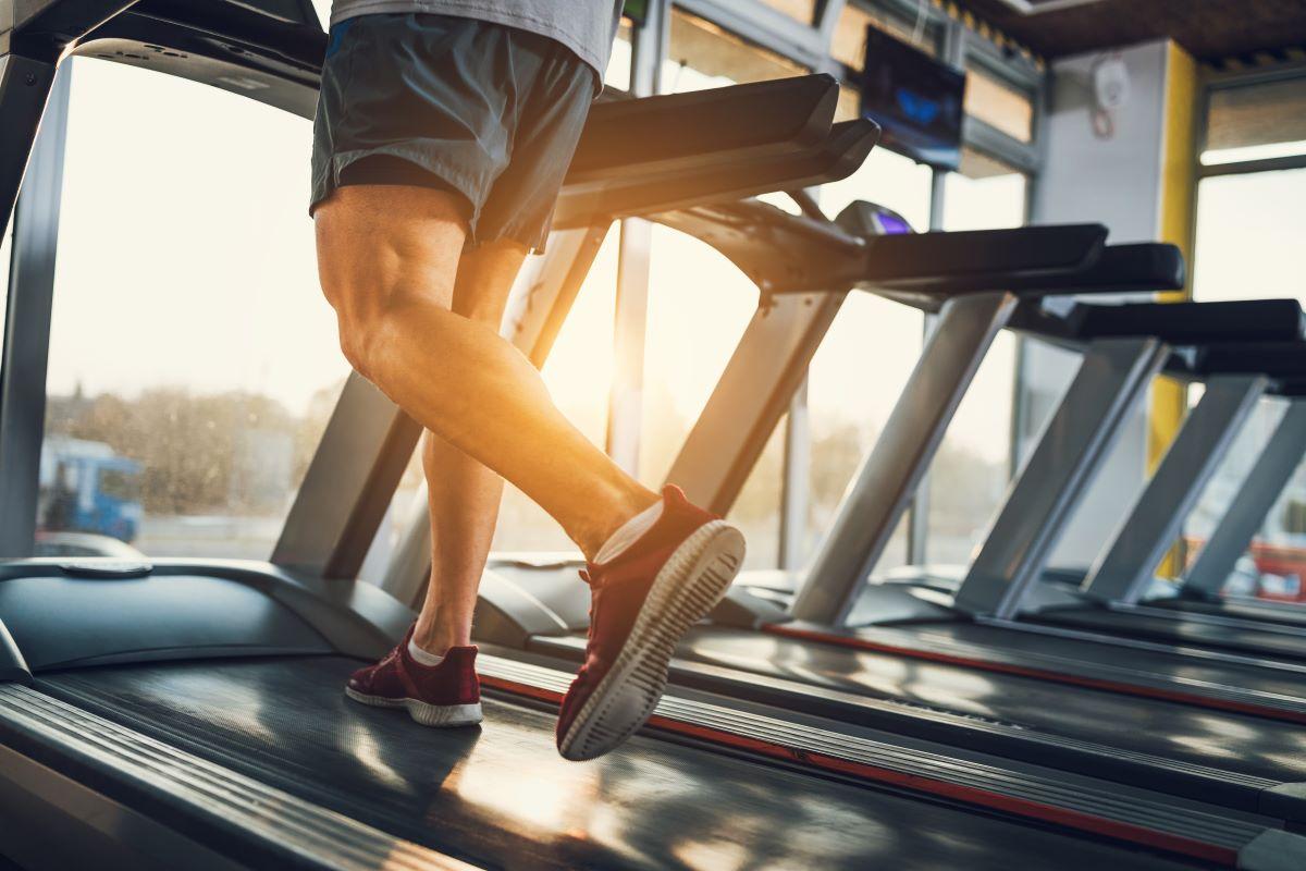 man treadmill exercise