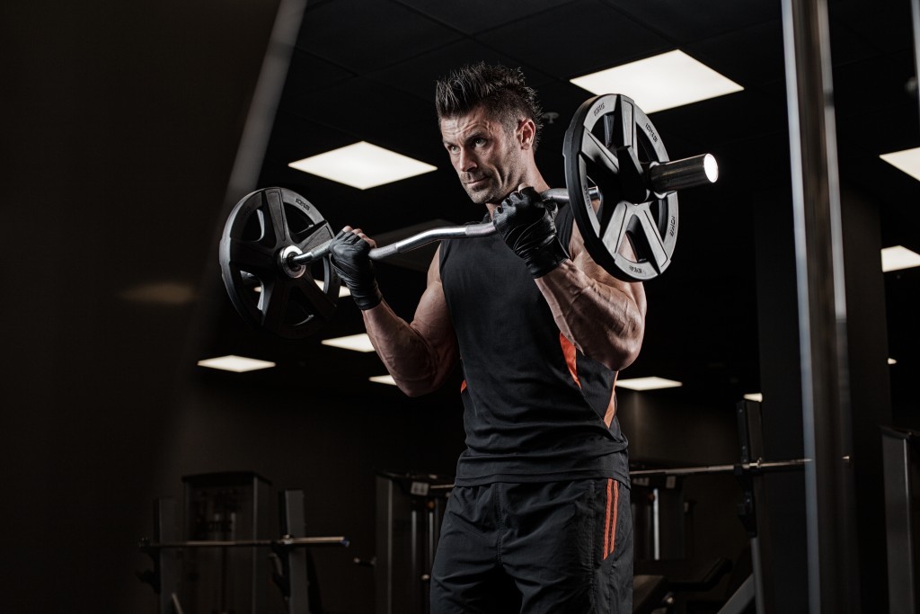 person lifting weights
